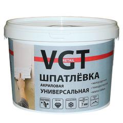 Шпатлевка финишная VGT акриловая универсальная для наружных и внутренних работ 7.5 кг