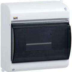 Бокс IEK КМПн 2/6 для 6 автоматических выключателей прозрачная крышка IP30 146x136x83 мм белый