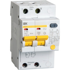 Дифференциальный автомат IEK АД12 2Р 25 А 30 мА