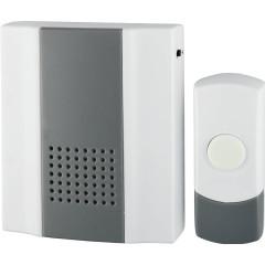 Звонок ЭРА D65 проводной 25 мелодий IP44 бело-серый