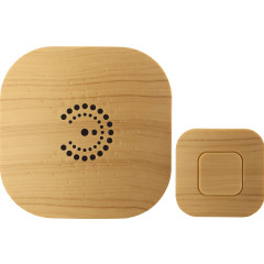 Звонок ЭРА BIONIC Bright wood беспроводной 6 мелодий IP44 светлое дерево