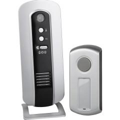 Звонок ЭРА C108 беспроводной 6 мелодий IP44 серебристо-черный