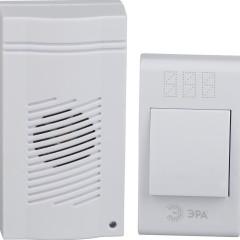 Звонок ЭРА C51 беспроводной 32 мелодии IP20 белый
