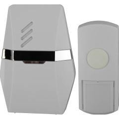 Звонок ЭРА C81 беспроводной 6 мелодий IP44 бело-серебристый