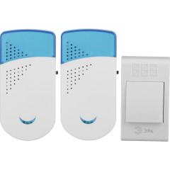Звонок ЭРА TWIN-R беспроводной 32 мелодии IP20 бело-синий
