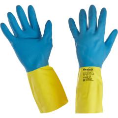 Перчатки Manipula Specialist Союз латекс/неопрен/хлопок размер 8 сине-желтые