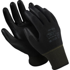 Перчатки Manipula Specialist Микропол  нейлон/ПУ размер 9 черные