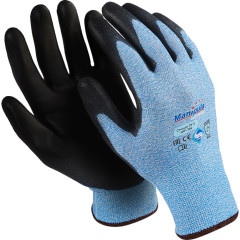 Перчатки Manipula Specialist Стилкат ПУ 3 HPPE/ПУ размер 9 черно-голубые