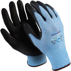 Перчатки Manipula Specialist Стилкат ПУ 3 HPPE/ПУ размер 10 черно-голубые