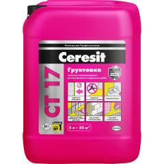 Грунт для впитывающих оснований Ceresit CT 17 желтый 5 л