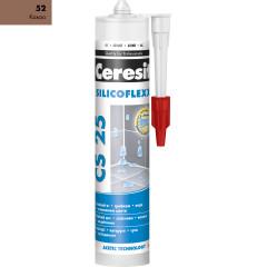 Затирка Ceresit CS 25 Silicoflex 280 мл какао 52