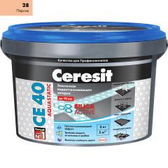 Затирка Сeresit CE-40 Aquastatic 2 кг Персик 28