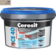 Затирка Сeresit CE-40 Aquastatic 2 кг Багама 43