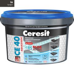 Затирка Сeresit CE-40 Aquastatic 2 кг Графит 16