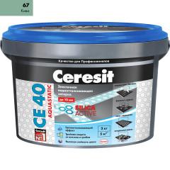 Затирка Сeresit CE-40 Aquastatic 2 кг Киви 67