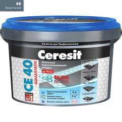 Затирка Сeresit CE-40 Aquastatic 2 кг Темно-синий 88