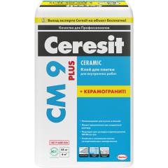 Клей CERESIT CM 9 PLUS плиточный 25 кг