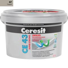 Затирка Ceresit CE-43 Super Strong 2 кг Серая 07