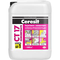 Грунтовка-концентрат глубокого проникновения Ceresit СТ 17 10 л