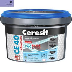 Затирка Сeresit CE-40 Aquastatic 2 кг фиалка 90