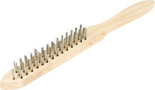 Корщетка 3-рядная Sparta деревянная ручка