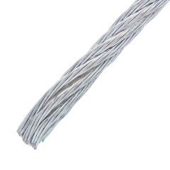 Трос Стройбат DIN 3055 3 мм 5 м стальной оцинкованный