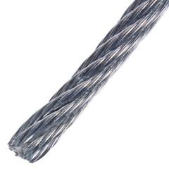 Трос Стройбат DIN 3055 5 мм 10 м стальной оцинкованный