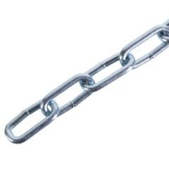 Цепь Стройбат DIN 766 3 мм 3 м короткое звено оцинкованная