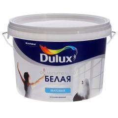 Краска Dulux Ослепительно белая матовая 2.5 л