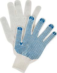 Перчатки хлопчатобумажные Russia 7 класс ПВХ покрытие Точка