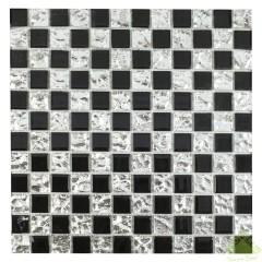 Мозаика Artens Shaker черно-серебристая 300х300х5 мм 0.09 м2
