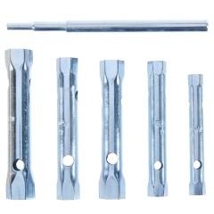 Набор торцевых ключей с воротком Sparta 8-17 мм оцинкованные, 6 шт.
