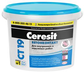Грунт Ceresit CT19 Бетонконтакт розовый 5 кг