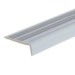 Порог угловой антискользящий T-plast серебро 900х15х40 мм EL