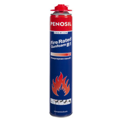 Пена монтажная профессиональная Penosil Premium Fire Rated Gunfoam B1 огнеупорная 720 мл