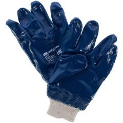 Перчатки с нитриловым обливом Сибртех размер M синие