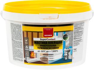 Мастика клеящая Neomid SuperContact универсальная термостойкая 4 кг