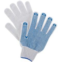 Перчатки хлопчатобумажные Сибртех ПВХ покрытие Точка размер 6