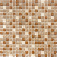 Мозаика Artens бежевый микс 301х301х8 мм 0.09 м2