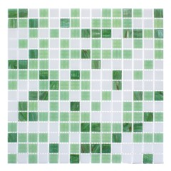 Мозаика Artens Pool бело-зеленая 327х327х4 мм 0.11 м2
