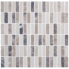 Мозаика Artens Mineral коричневая 305х298х7 мм 0.09 м2