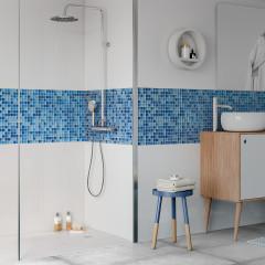 Мозаика Artens Shaker сине-голубая 300х300х4 мм 0.09 м2