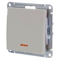 Выключатель одноклавишный с подсветкой Schneider Electric W59 VS110-153-2-86 слоновая кость