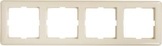 Рамка Schneider Electric W59 4 поста слоновая кость
