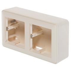 Коробка подъемная Schneider Electric двуместная слоновая кость