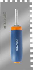 Кельма зубчатая Dexter 315х132 мм зуб 10х10 мм пластиковая ручка