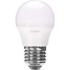 Лампа светодиодная Osram шар матовый E27 6.5W 220V 4000K