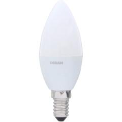 Лампа светодиодная Osram свеча матовая E14 6.5W 220V 2700K