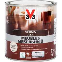 Лак для мебели V33 Meubles матовый белый 0.5 л