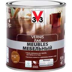 Лак для мебели V33 Meubles глянцевый тик 0.5 л